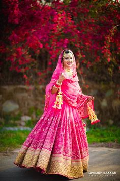 Bridal Pink Sabyasachi Lehenga   Weddingz.in   India's Largest Wedding Company   Wedding Venues, Vendors and Inspiration