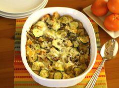 Cheese, Zucchini and Mushroom Strata Bake {Via Fab Foods}