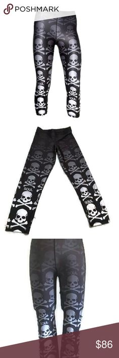 "SOULCYCLE Ombre Skull Capri Pants Large - NWT! Brand New With Tags | Completely SOLD OUT  Women's SOULCYCLE Ombre Skull Capri Pants In Size Large. Retail Price $86.00 Made In NYC; Designed By Zara Terez Exclusively For SOULCYCLE 80% Polyester | 20% Spandex  14"" Waist 