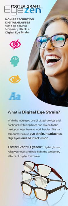 Do you experience tired, red eyes after hours on your smart phone, tablet, or computer? With the increased use of digital devices and continual switching from one screen to the next, your eyes have to work harder.  This can temporarily cause eye strain, headaches, dry eyes and blurred vision.