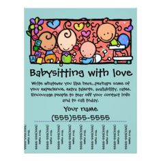 Babysitting Flyer Template With Pull Tabs By Vertex42 Com