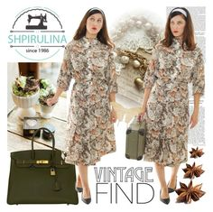 """""""SHPIRULINA"""" by gaby-mil ❤ liked on Polyvore featuring Hermès, vintage and shpirulina"""