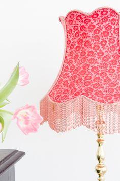 Colour Cerise Pretty Modern Vintage Decor Blog Deco Light Shades Cozy House Lampshades
