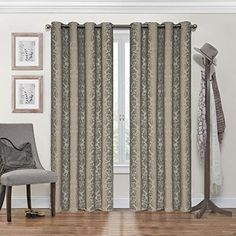 Eclipse Nadya Grommet Blackout Window Curtain Panel 95Inch Black ** Check this awesome product by going to the link at the image.
