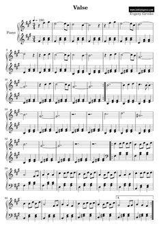 İzmir Özel Piyano Dersi: Evgeny Grinko Piyano Notaları - Valse Piyano Notal...