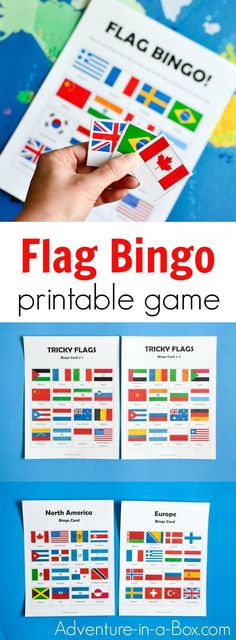 Flag Bingo is a printable educational game that challenges children to learn and identify the flags of the world. Fun supplement to teaching geography in preschool and games Flags of the World Bingo: Printable Game for Kids Geography For Kids, Geography Activities, Geography Lessons, Teaching Geography, Social Studies Activities, World Geography, Teaching Kids, Kids Learning, Learning Games