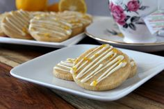 Recipes from The Recipe Girl Cookbook | Recipe Girl--Lemon shortbread cookies with white choc. drizzle