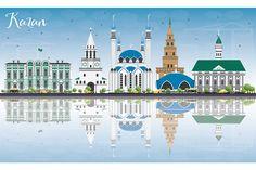 #Kazan #Skyline with Gray #Buildings by Igor Sorokin on @creativemarket