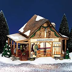"Department 56: Products - ""Timberlake Outfitters"" - View Lighted Buildings"