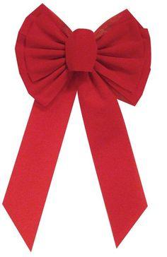 "Holiday Trims 7358 Velvet Bow, Red, 10"" x 18"" x 3"""