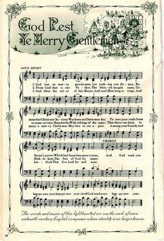 25+ Free Printable Vintage Christmas Sheet Music | Christmas sheet ...