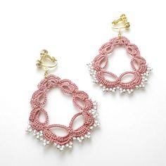 Drop イヤリング/pink