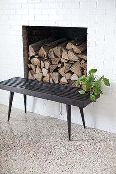 DIY slatwood bench- it's surprisingly easy to make!