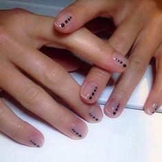 53 Ideas For Manicure Natural Nails Negative Space Trendy Nail Art, New Nail Art, Nail Art Diy, French Nails, French Manicure Nails, Manicure Ideas, Bio Gel Nails, Fun Nails, Minimalist Nails