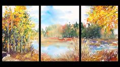 Pond on Fisk Rd:  watercolor by Sumiyo Toribe