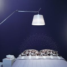 Swarovsky / navy blue / lighting / lamp / bedroom / headboard Marie Claire Maison #décoration