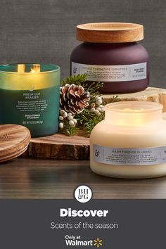 Fill your home with Better Homes & Gardens' scents of the season! #holiday #christmas #candles #candleideas #holidaycandlescents #homefragarance #candlescents #hostessgiftidea