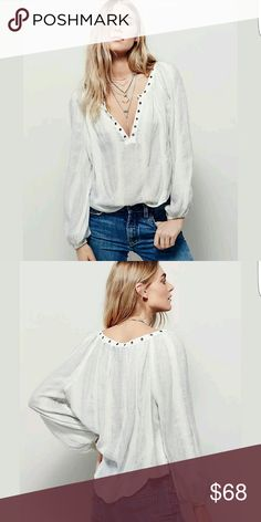 SOLD Free people shirt top XS new with tags Free People Tops Blouses
