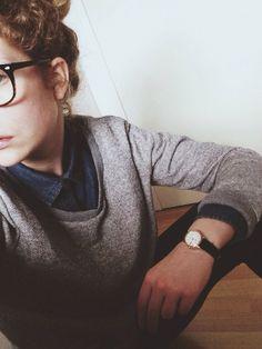 idea to pair denim w gray sweater