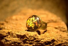 Mosaic ring adjustable ring statement ring by Bernsteinufer
