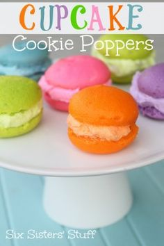 Cupcake Cookie Poppers Recipe #cupcakes #cupcakeideas #cupcakerecipes #food #yummy #sweet #delicious #cupcake