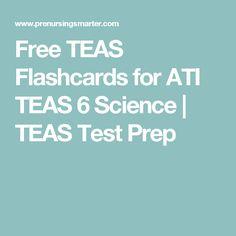 Free TEAS Flashcards for ATI TEAS 6 Science | TEAS Test Prep