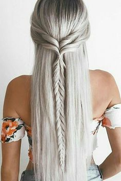 25 Easy Hairstyles for long hair – Hair Styles 2019 Haircuts For Long Hair, Braids For Long Hair, Straight Hairstyles Prom, Curly Hair, Boho Hairstyles For Long Hair, Bohemian Hairstyles, Short Haircuts, Evening Hairstyles, Cute Fall Hairstyles