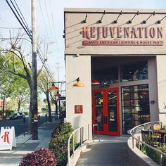 Bay Area friends! Join us today, Sat. 4/15, @rejuvenationberkeley for the very first @bouquet_market, a curated seasonal marketplace featuring the best local vintage collectors, independent designers, makers, and artisans who embody timeless spirit and quality craft. @bouquet_market is from 10am-5pm and is brought to you by Rejuvenation + @wallflowersf from 10am-5pm. #rejuvstores #rejuvenationberkeley #bouquetmarket #fourthstreetberkeley #rejuvmarket Storefront Signage, Store Signage, Brick Restaurant, Restaurant Ideas, Shipping Container Restaurant, Shop Facade, Tyre Shop, Night City, Stage Design
