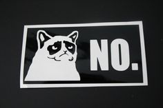 Grumpy Cat Vinyl Decal Sticker Grumpy Cat Grumpy by EntropySigns