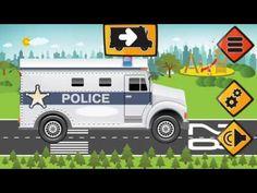 police car ambulance compilation car game cartoon for kids