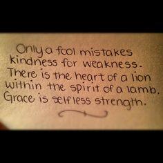 Selfless Strength