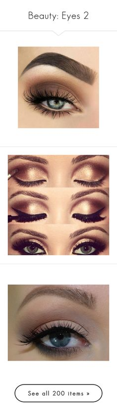 """""""Beauty: Eyes 2"""" by moon-and-starss ❤ liked on Polyvore featuring beauty products, makeup, eye makeup, eyeshadow, eyes, beauty, hair and makeup, palette makeup, ultimate makeup and beleza"""
