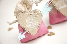 Dip Dyed Valentine Treat Bags by Ashley Cannon Newell for Papertrey Ink (December 2013)