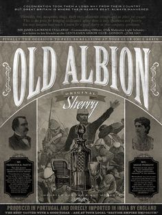 OLD ALBION printed on blueback paper