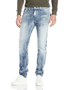 "True Religion Men's 1/2"" Se Rocco with Flap Rocco is true religion signature skinny fit for a sleek look that doesn't sacrifice comfort.This style is featured in true religion unique faded galaxy wash that will set you apart from everyone else in basic indigo denimClassic true religion back flap pocket  12, 7 for all mankind, calvin jeans, Diesel, dl1961, Flap, g-star, guess jeans, Hollister, Hudson, hudson jeans, j brand, levi, lucky brand, Mens, paige jeans, pepe je"