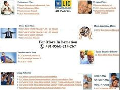 LIC of India Policies Plans Merchant Agent Portal Customer Care Number NAV Wealth Market Profit Plus  Call @ +919560214267.  1) Insurance Plans Insurance Plans are policies that talk to you individually and give you the most suitable options that can fit your requirement. As individuals it is inherent to differ. Each individual's insurance needs and requirements are different from that of the others. LIC's Insurance Plans are policies that talk to you individually and give you the most…