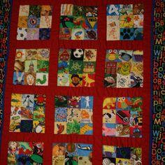 I spy quilt, I made this for my grandkids!