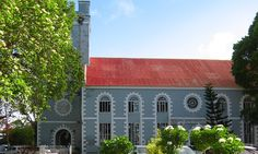 """St. Mary's Church in Bridgetown, Barbados.  This is one of the listed buildings in the Barbados World Heritage Site """"Historic Bridgetown and Its Garrison"""". Take an interactive tour at http://www.barbados.org/historic-bridgetown-garrison-barbados-interactive.htm"""