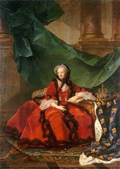 Marie Leszczyńska, reine de France (Versailles), ca. 1748 after Jean-Marc Nattier