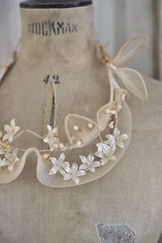 Stunning antique French flower crown by WhiteandFaded on Etsy