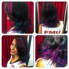 Um bom dia colorido a todos vocês! Colors by Babi Carvalho! #circushair #circusaugusta #hair #color #fashion #style