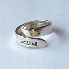 FashionJunkie4Life - Believe Ring - Adjustable - Sterling Silver, $40.00 (http://www.fashionjunkie4life.com/believe-ring-adjustable-sterling-silver/)