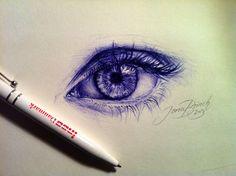 ballpoint pen sketch by Iona Brinch