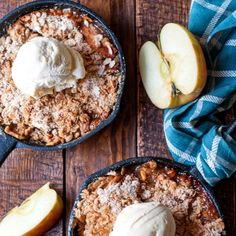 Classic Cinnamon Apple Crisp. As comforting and delicious as Grandma's Apple Pie, with about 1/3 of the work.