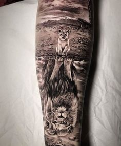 Rate This Lion Reflection Tattoo 1 to 100 Sketches Lion Head Tattoos, Mens Lion Tattoo, Wolf Tattoos, Leg Tattoos, Black Tattoos, Body Art Tattoos, Tattoos For Guys, Tattoo Ink, 100 Tattoo