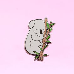 Katie the Sleepy Koala Pin by thecleverclove on Etsy Cute Wallpaper Backgrounds, Cute Wallpapers, Gift For Lover, Lovers Gift, Bag Pins, Cool Pins, Pin And Patches, Paint Party, Pin Badges