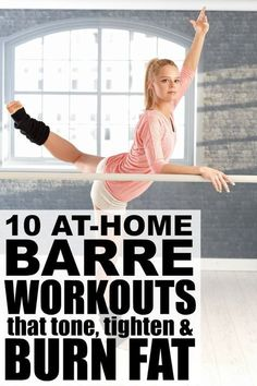 If you're trying to burn calories and lose fat while also sculpting your body, give one of these at-home barre workouts that burn fat a try! Barre exercises include postures from ballet, yoga, and pilates, and while the moves are slight, they go a long way in strengthening your muscles for a lean, toned look. You don't have to be a dancer or ballerina to enjoy these workouts, and if you don't have a ballet bar kicking around your living room (HA!), you can use a chair or table top instead.