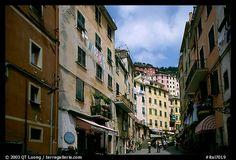 Main street, Riomaggiore. Cinque Terre, Liguria, Italy (color)