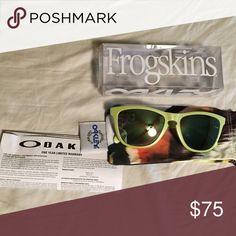 One green Oakley frogskins Cheaper on merc Oakley Accessories Sunglasses