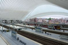 Calatrava's Liège-Guillemins train station as a toy town train station.